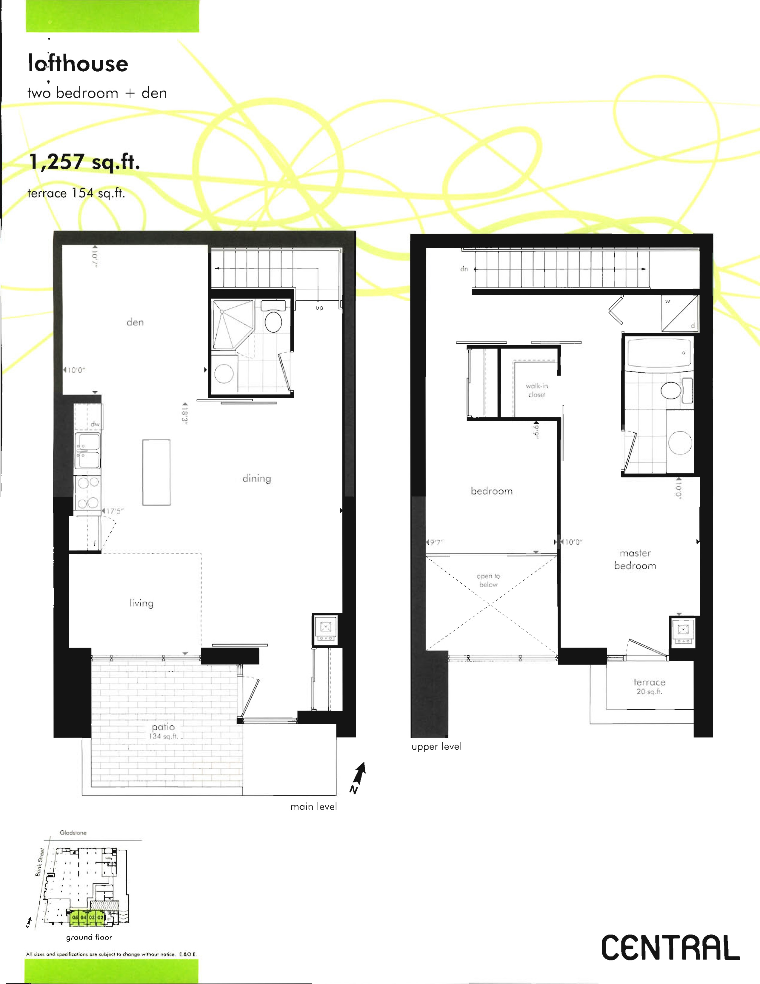 Central Phase One And Phase Two Floor Plans
